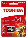 Toshiba EXCERIA M301-EA Micro SDXC 64GB UHS-I Klasse 10 Speicherkarte (bis zu 48MB/s lesen)