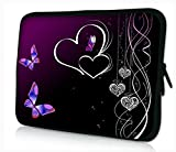 Funky 10,1-10,2 Zoll Tablet Hülle, Laptoptasche - Zoll Fall Neopren für Notebooks Dell HP MacBook Samsung Apple Toshiba (Purple Butterflies 2)